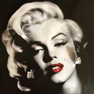 🔥 Vintage Monet Silver Tone Clip On Earrings